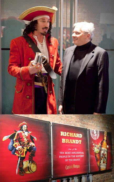 "Diageo named Richard  ""One of the 10 most important people in the life of the Captain Morgan brand""."