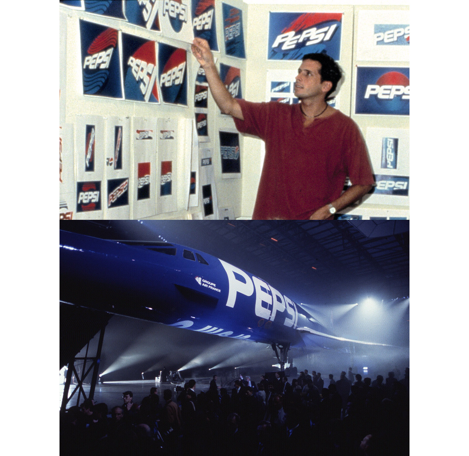 "Early in his career, Richard was the creator of the ""Pepsi Blue"" identity"