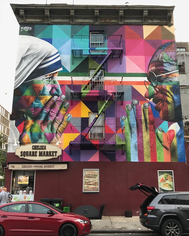 18th and 10th NYC #gandhi #motherteresa #nyc #mural #streetart #newyork