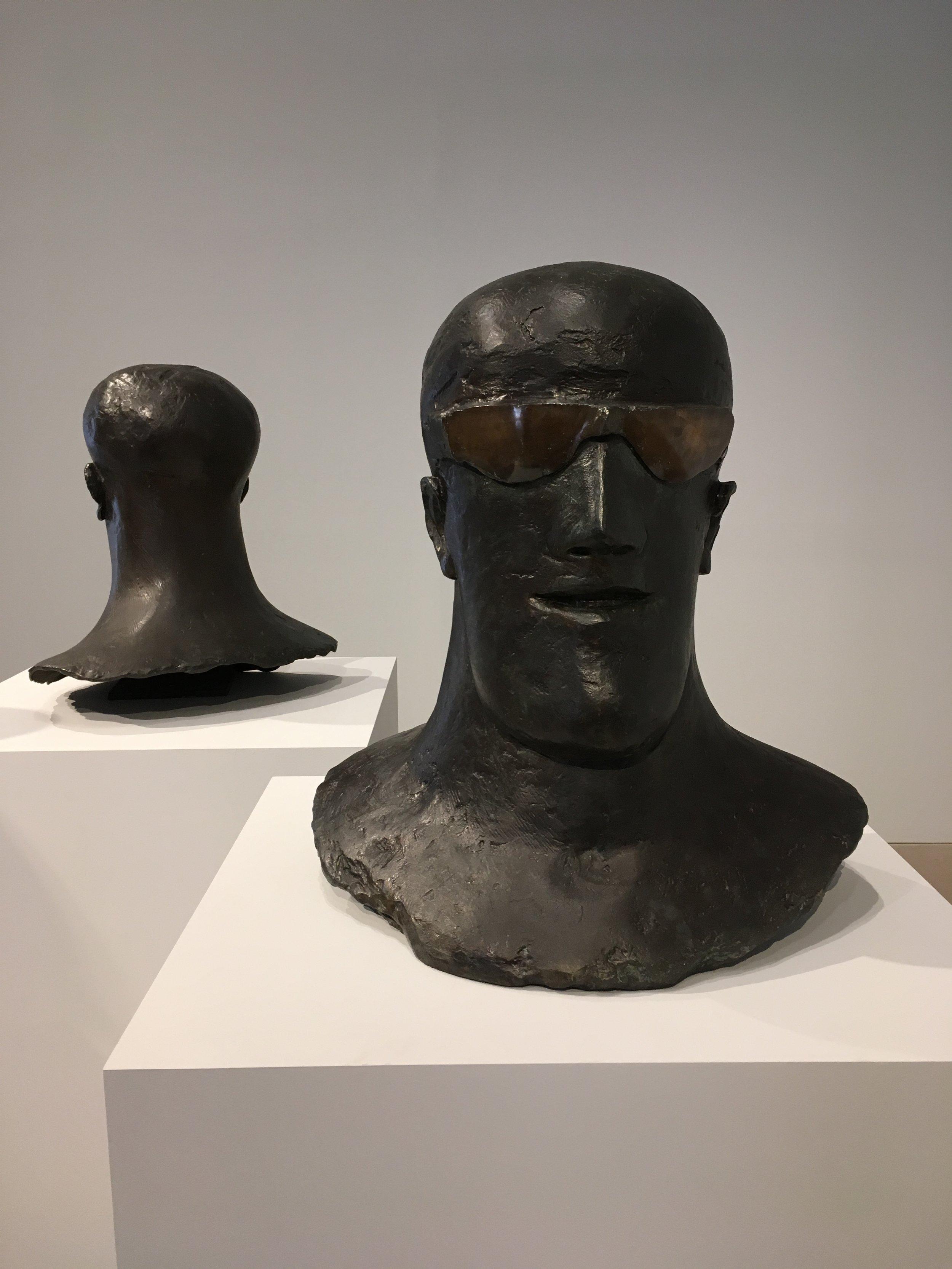 Goggle Head 1969. Bronze.
