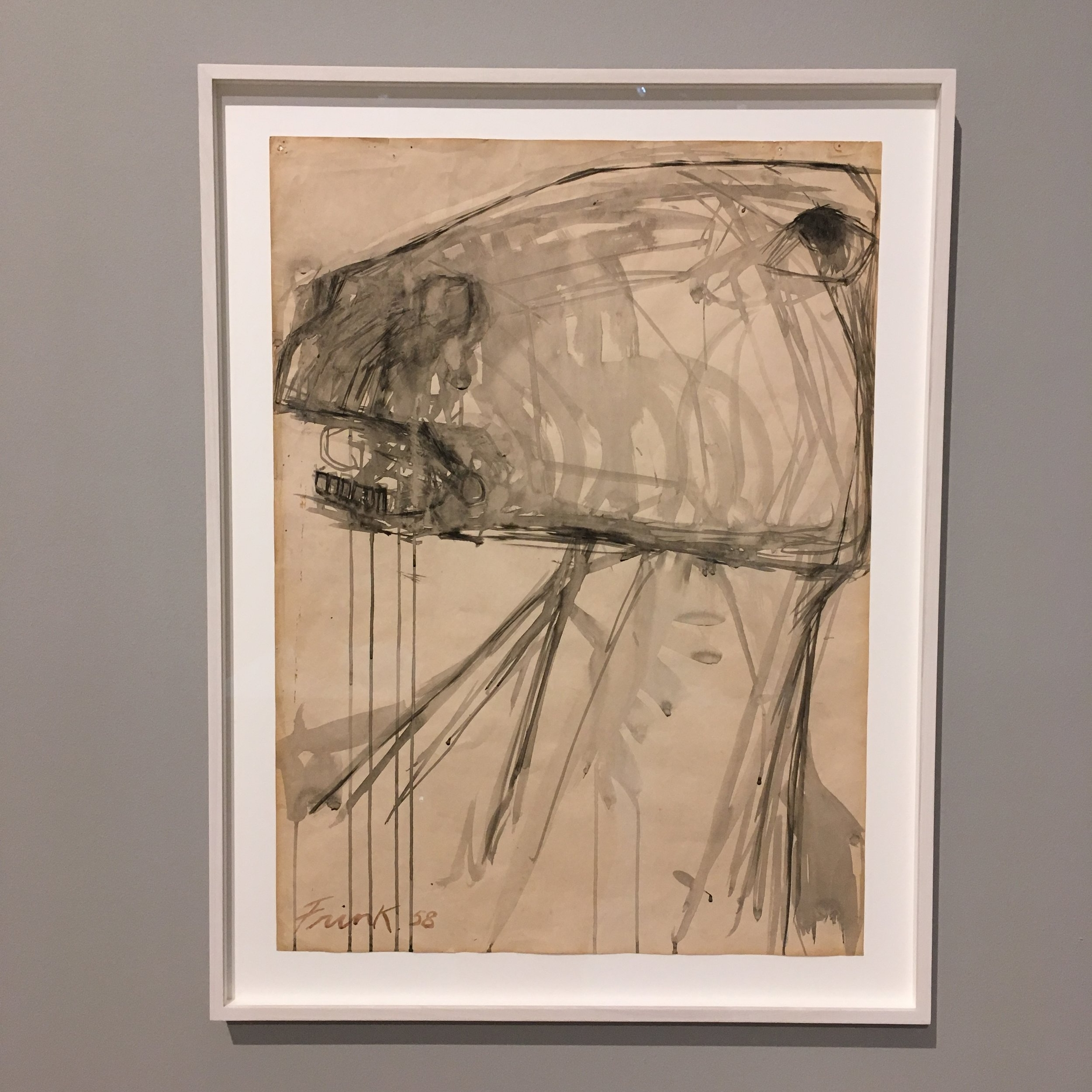 Horse 1958. Ink on paper.