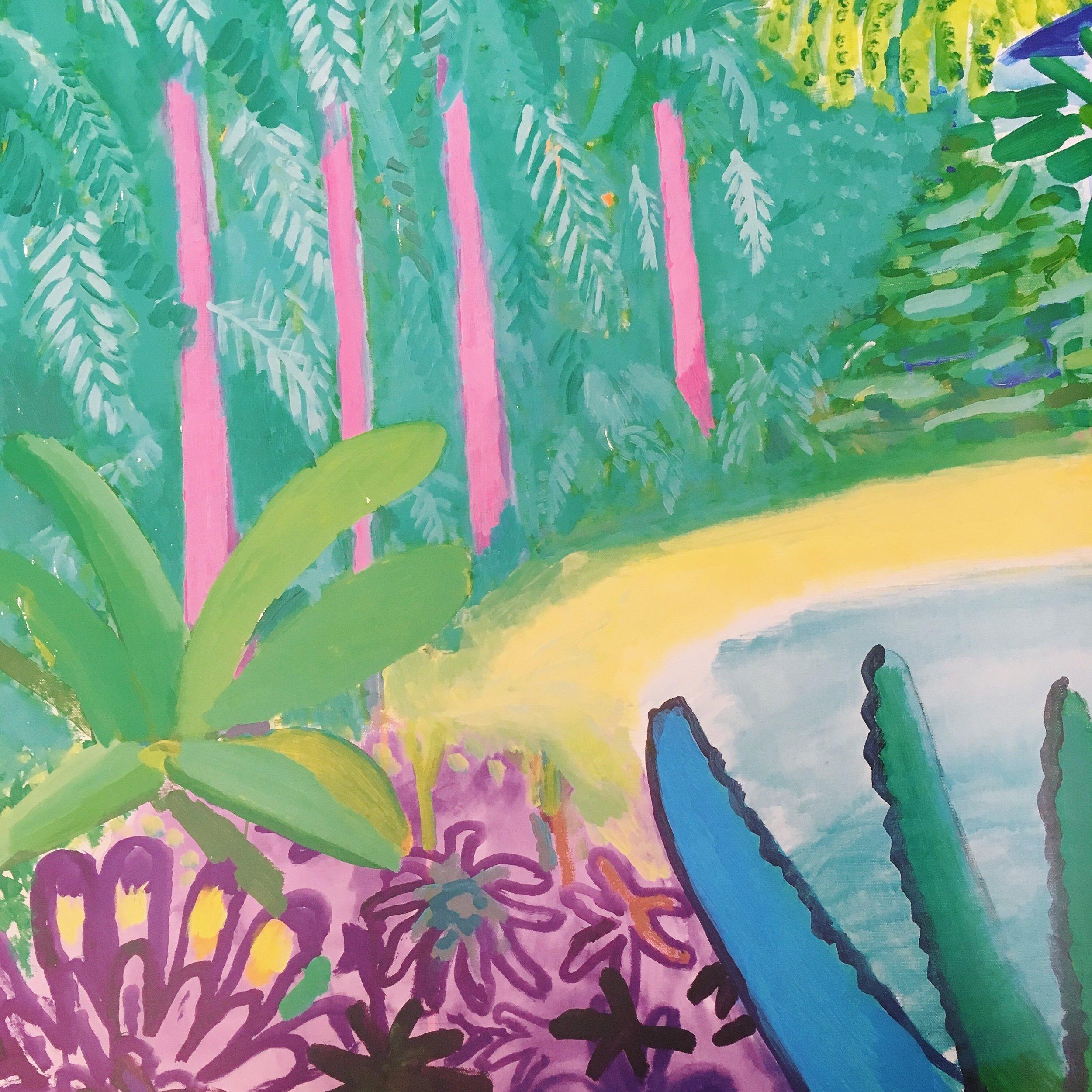 Garden 2015 (detail). Acrylic paint on canvas.