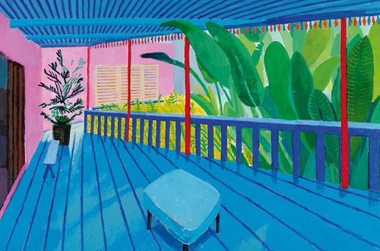 Garden with Blue Terrace 2015. Acrylic paint on canvas.