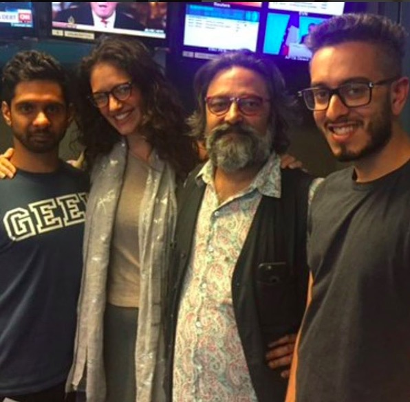 with actor Mitesh Soni, Skye Hallam and Artistic Director Jatinder Verma MBE
