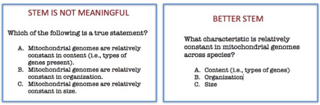 multiple choice test sample in english