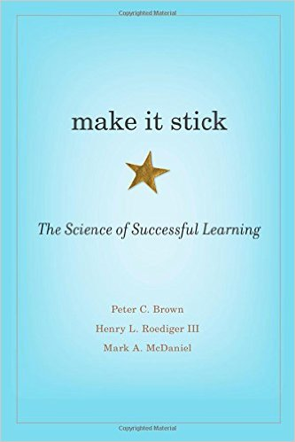 Photo taken from http://www.amazon.com/Make-It-Stick-Successful-Learning/dp/0674729013