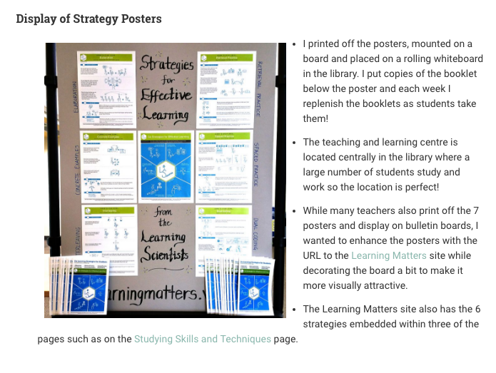 From post:Learning to Learn: Student Study Strategies for Success! -- Liesel Knaack