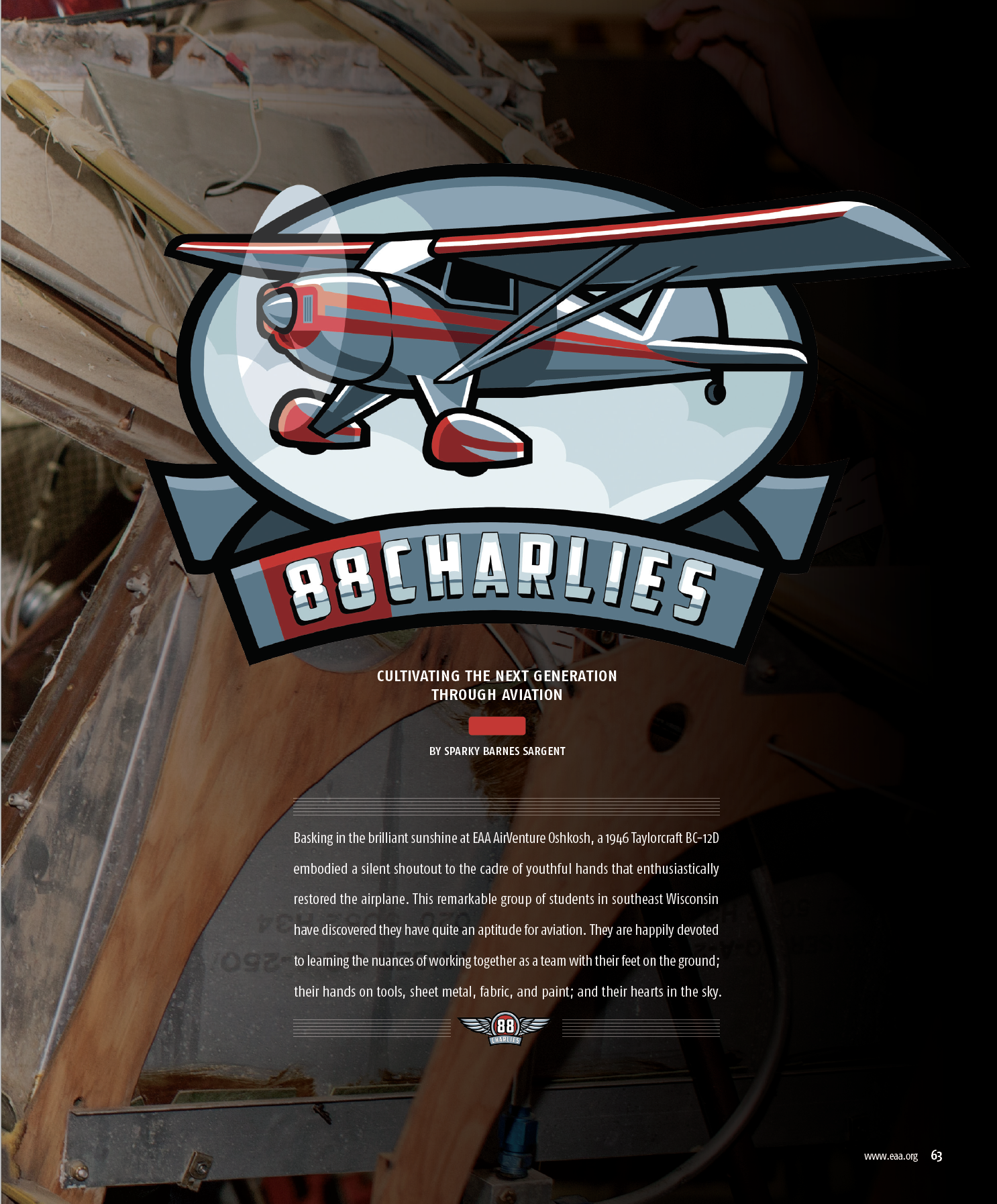 88CHARLIES was featured in the May 2018 issue of SportAviation! Click the image to read the full article!