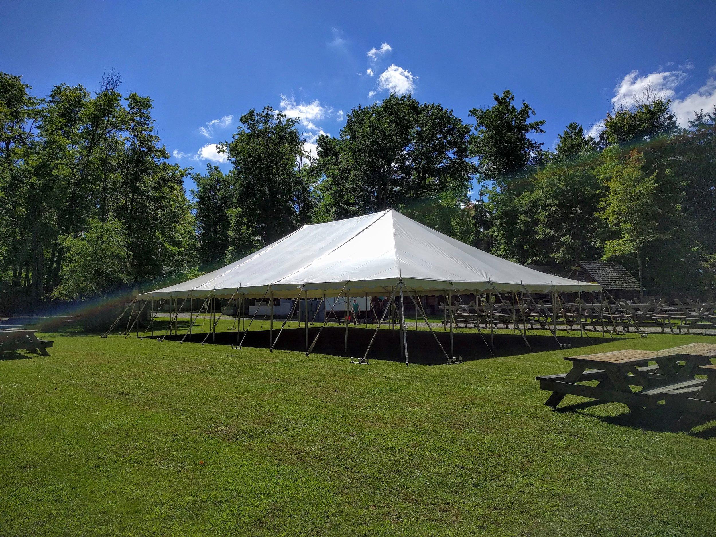 40' x 60' Large Pole Tent