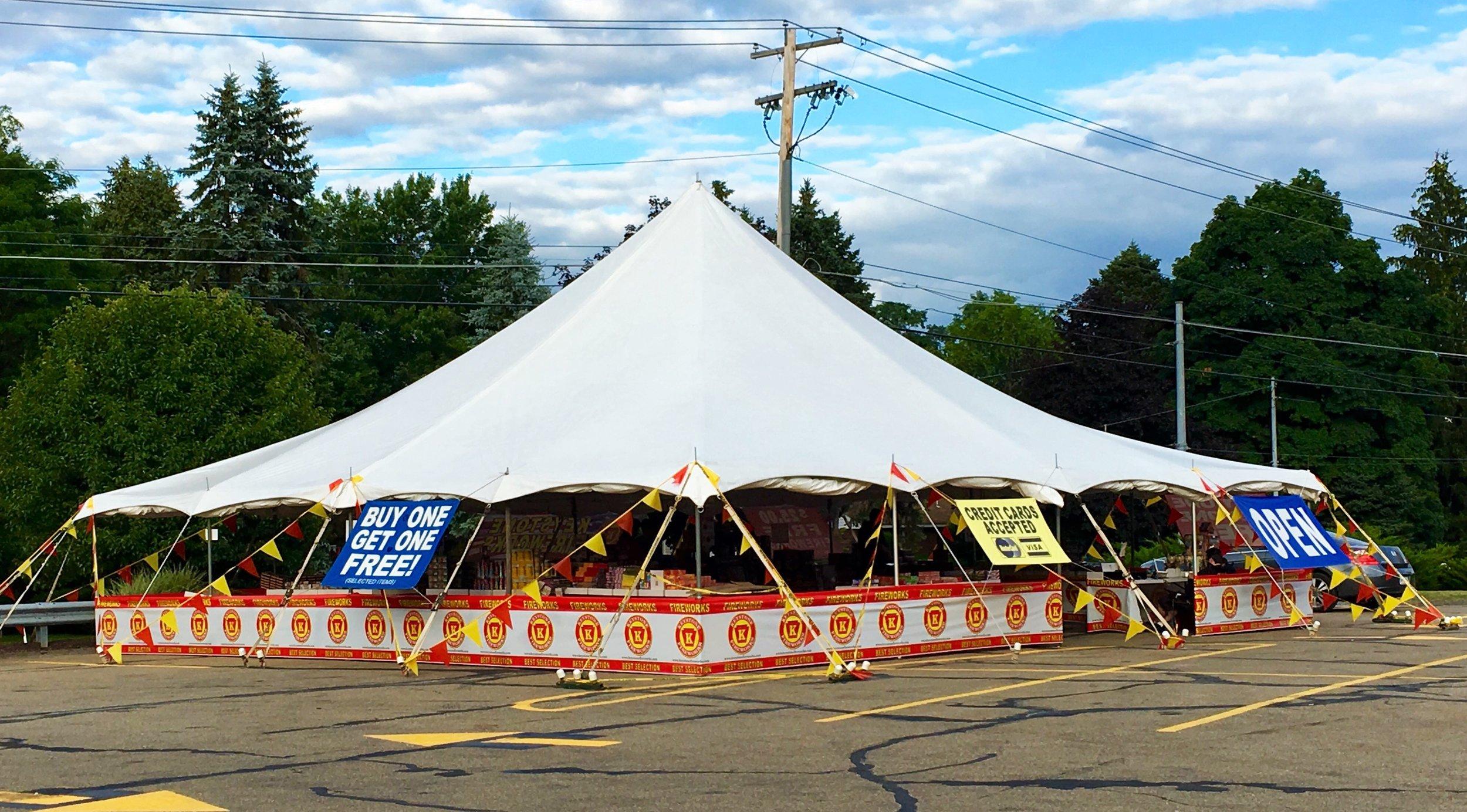 40' x 40' Large Pole Tent