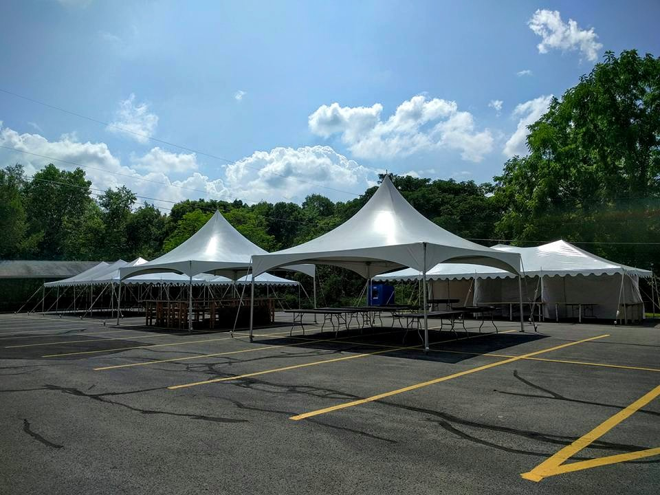 2 - 20' x 20' High Peak Frame Tents