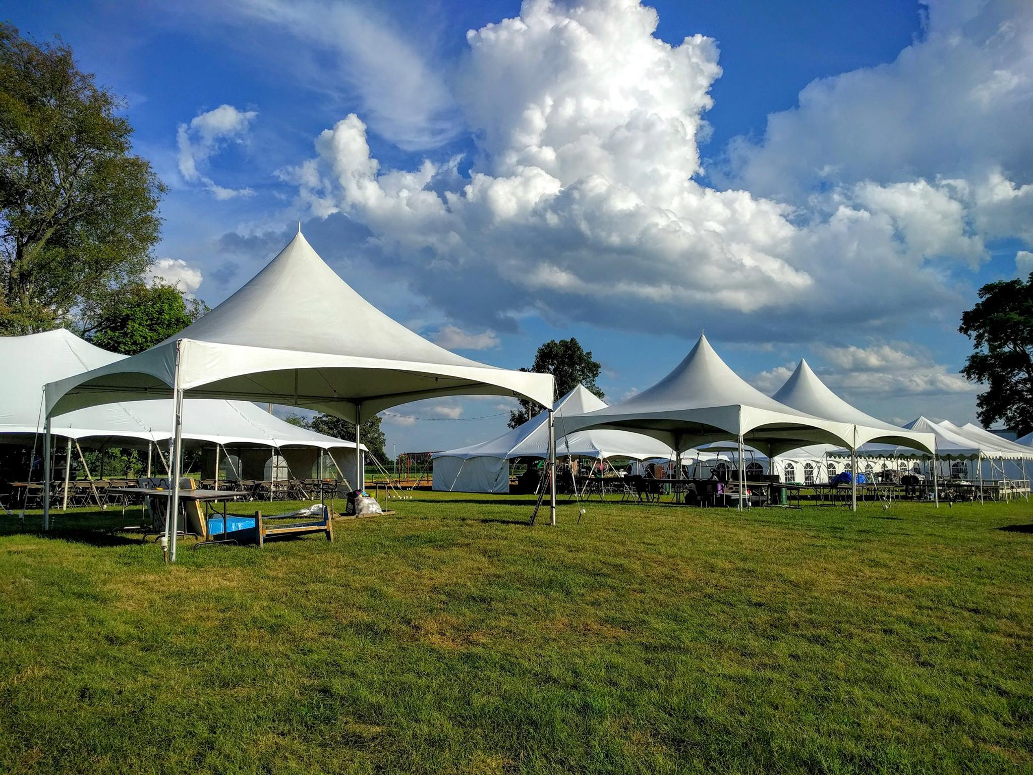 3 - 20' x 20' High Peak Frame Tents