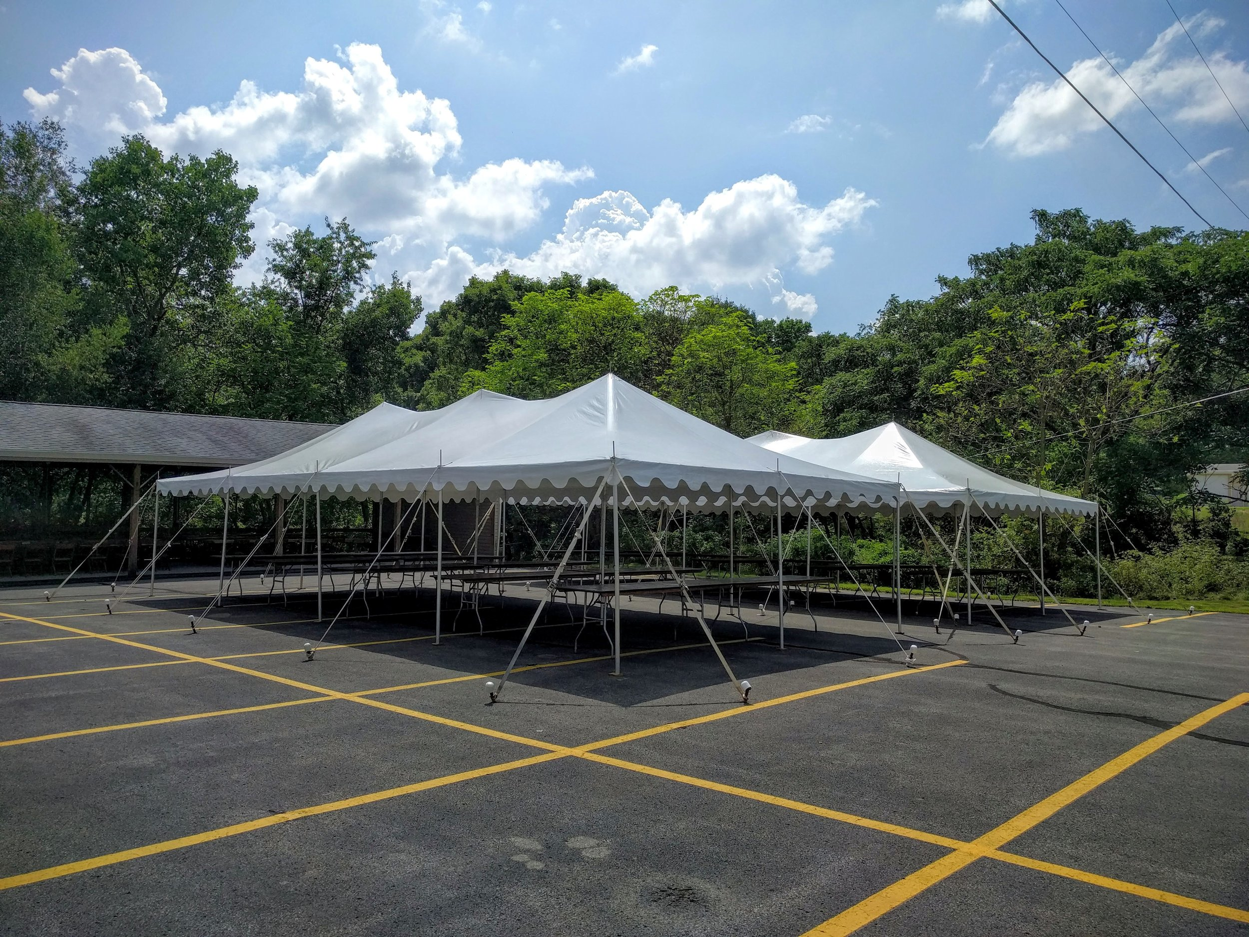 2 - 20' x 40' Canopy Tents
