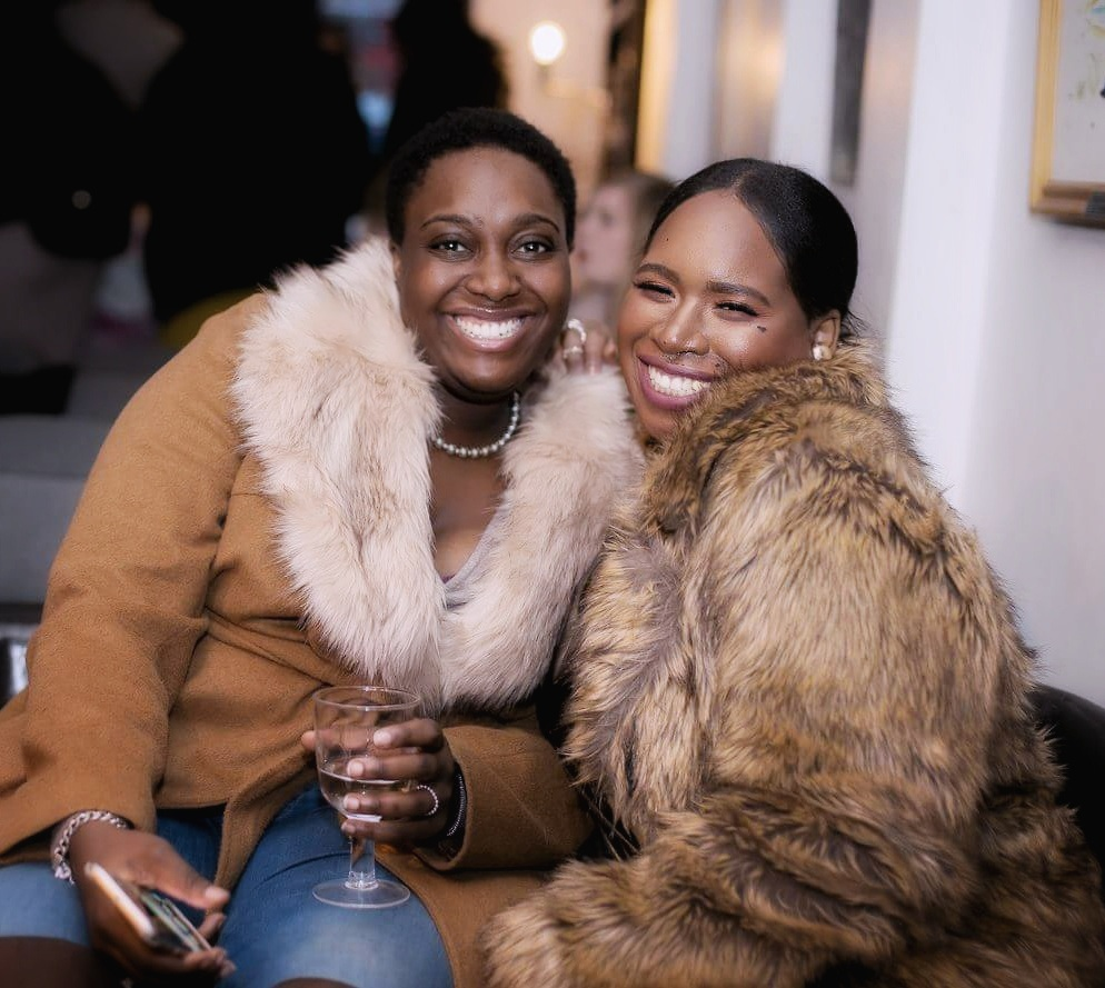"With my betch Scotty looking lavish at the Simply Oloni ""Laid Bare"" event in February!"