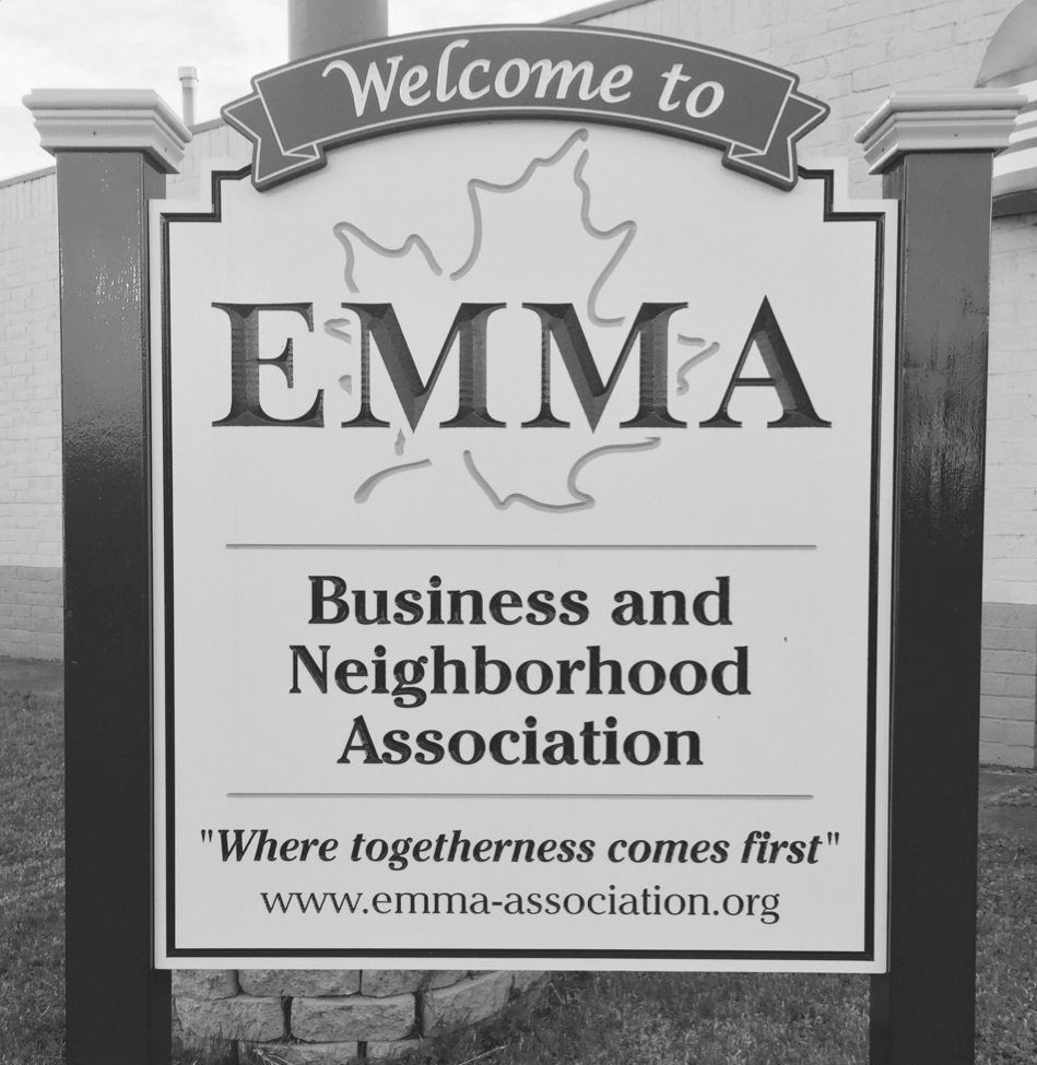 EMMA - The EMMA (East Main, Mustard & Atlantic Avenue) neighborhood is on the south side of East Main Street between Goodman and Culver Roads. Its once-thriving commercial area, the original home of French's Mustard and Beechnut, holds potential for redevelopment and job creation. With a population of approximately 800 residents in 325 households, EMMA is a diverse community of individuals and families who are passionate about the neighborhood they call home.