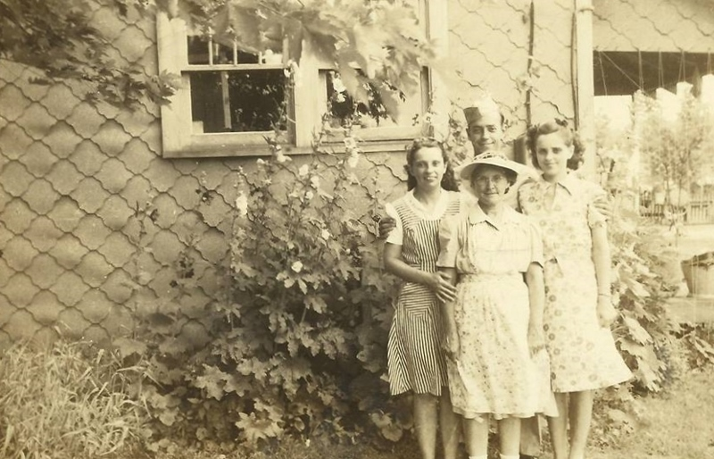 My Grandma Stella with my Dad and his sisters Fern and Jamesena, circa 1940, West Frankfort, Illinois