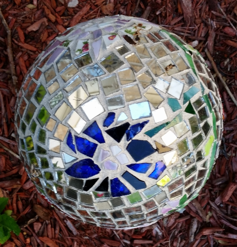 2 ways to look at it: The broken pieces or the beautiful mosaic. (Created by my friend Jean Steiber)