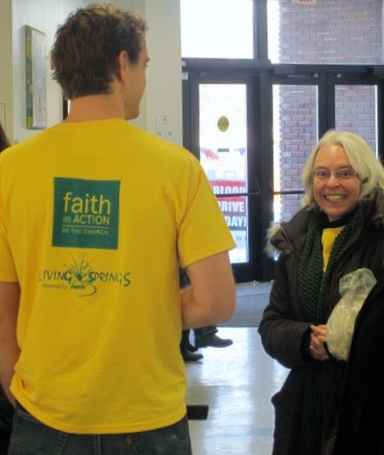 Faith in action. One of my favorite ways that my church family at Living Springs Community Church comes together to express our commitment to loving God and serving others.