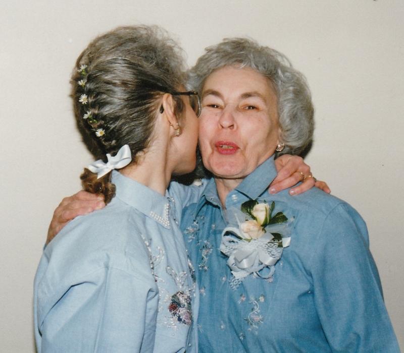 My Mom and me. My wedding day, 1995. (Photo by Steve Hughey)