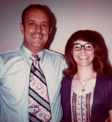 Laura and Dad, 1972. I still miss my Dad's wisdom, love, and hugs.