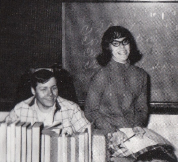 Gene and Laura, high school speech class, 1969