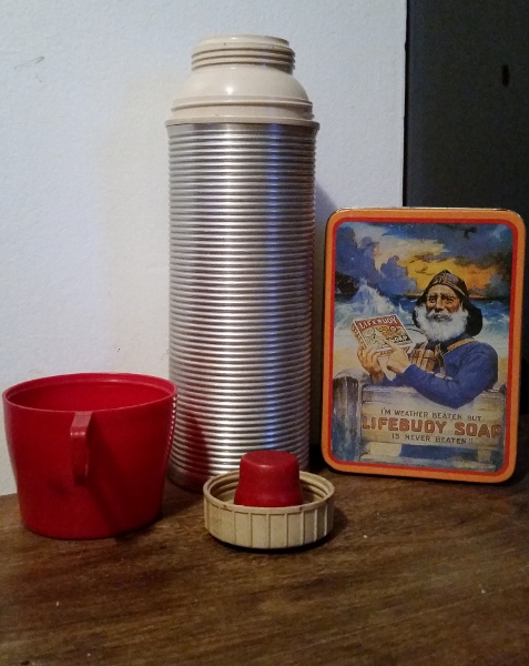 Daddy drank from this thermos every night when he worked at Old Ben No. 9. When my sister Barb and I got to drink from it, he made it a special treat. Even though that meant he wasn't getting paid because the miners went out on strike.