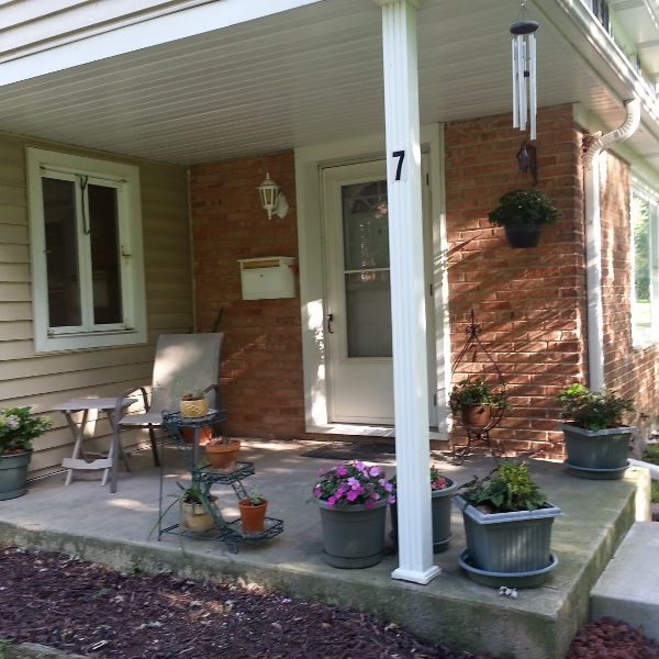 Home sweet front porch. I've actually lived here longer than anywhere else I've lived, except growing up in my parents' house.