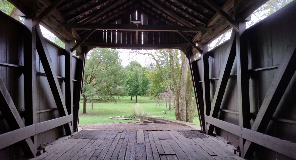 When God adjusts your perspective, you're sure to learn more about what he wants for you. (My photo: Covered bridge,  Fairfield County, Ohio )