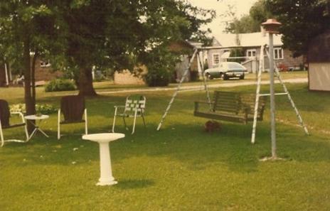 Our backyard, 409 N. Bryan St., West Frankfort, Illinois