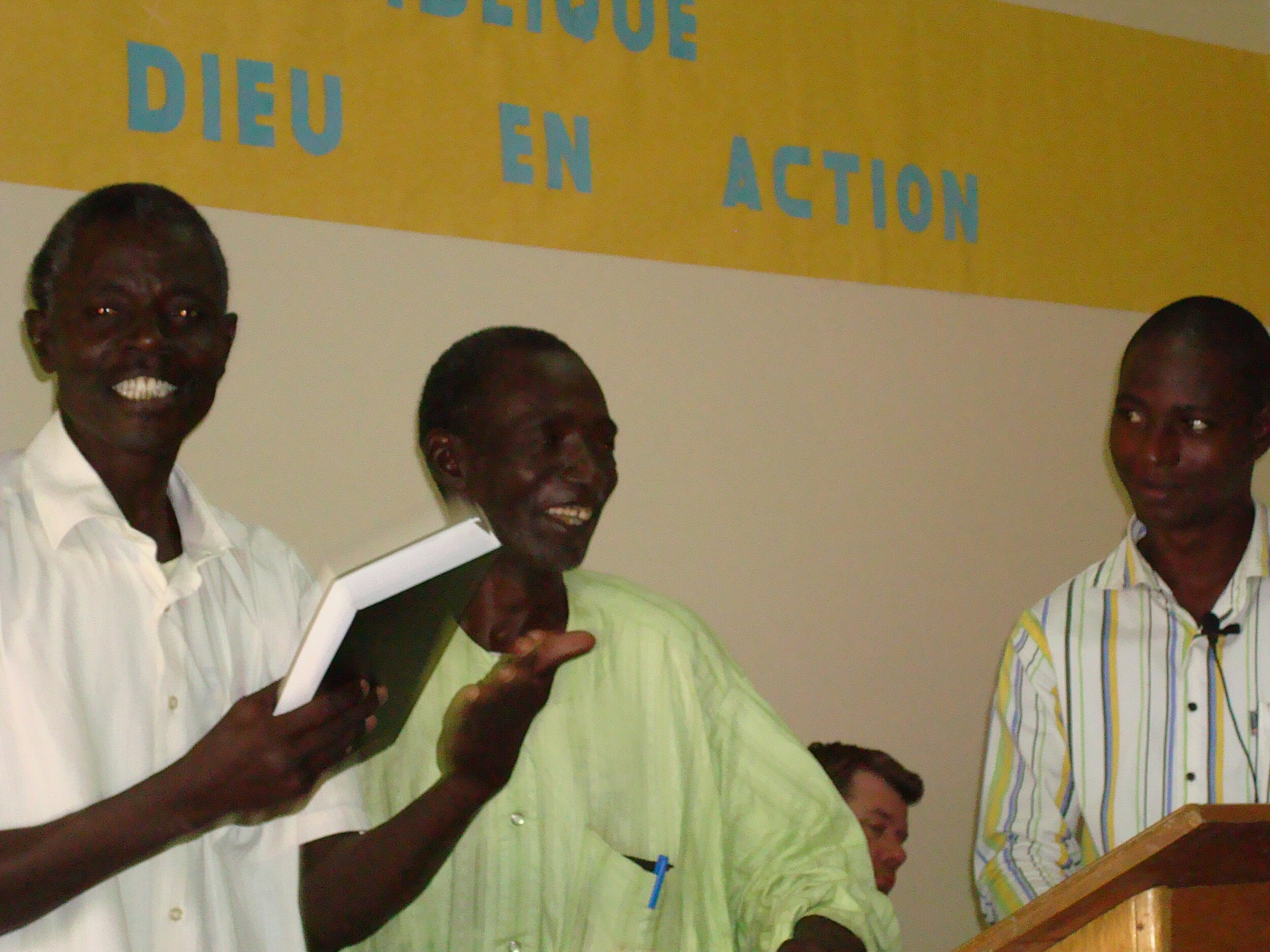 My photo: Testimonies in four languages, Bible League office, Dakar, Senegal, West Africa