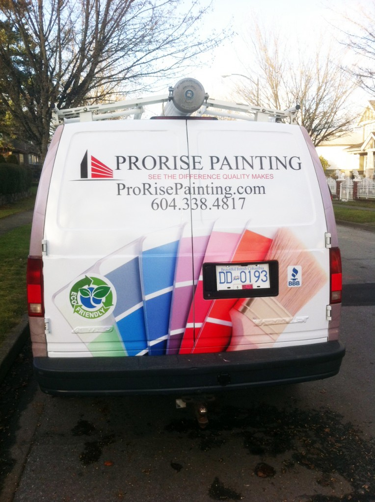 Rear View of Full Vehicle Wrap
