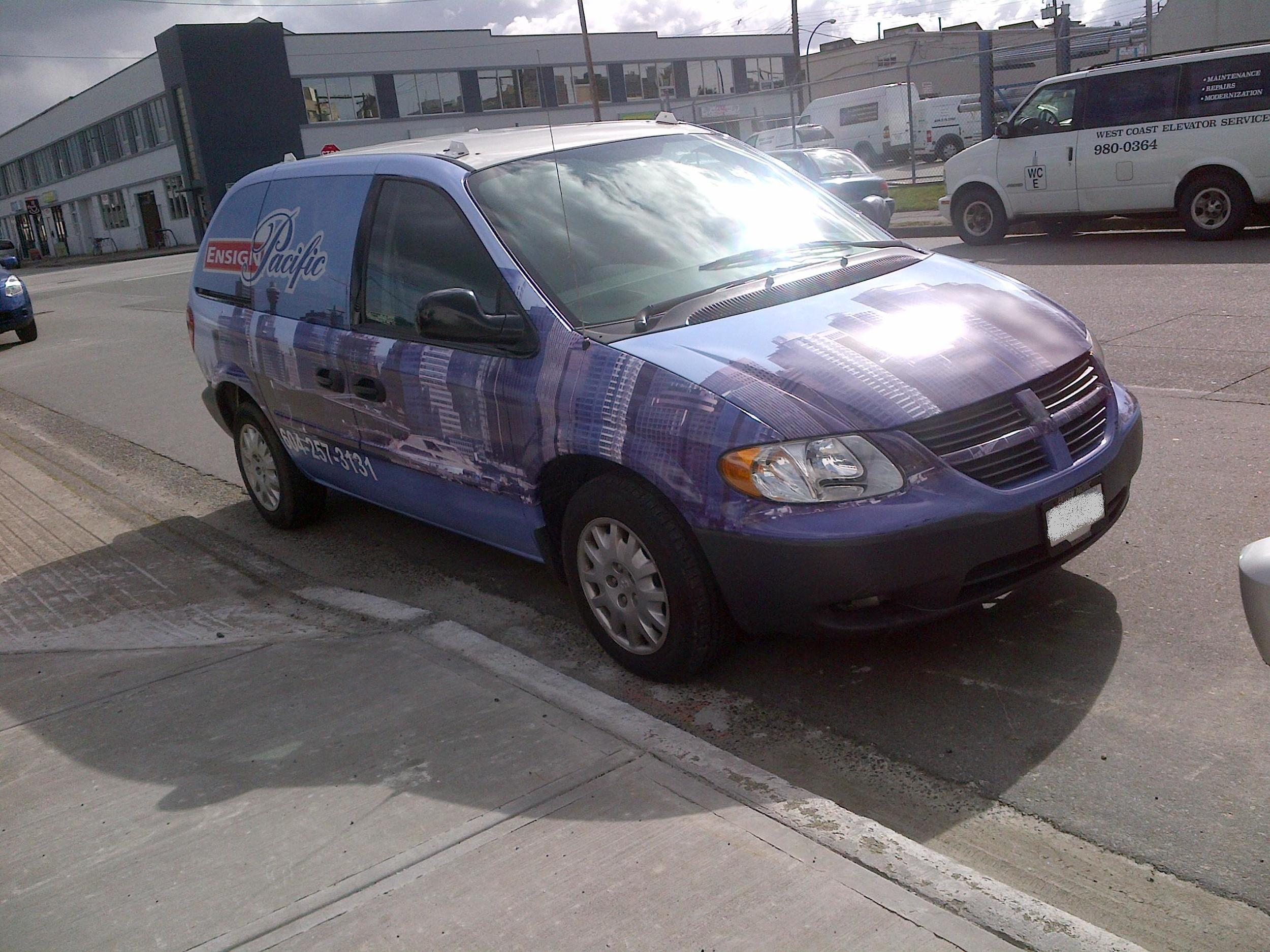 Vancouver Van Wrap Front RIGHT