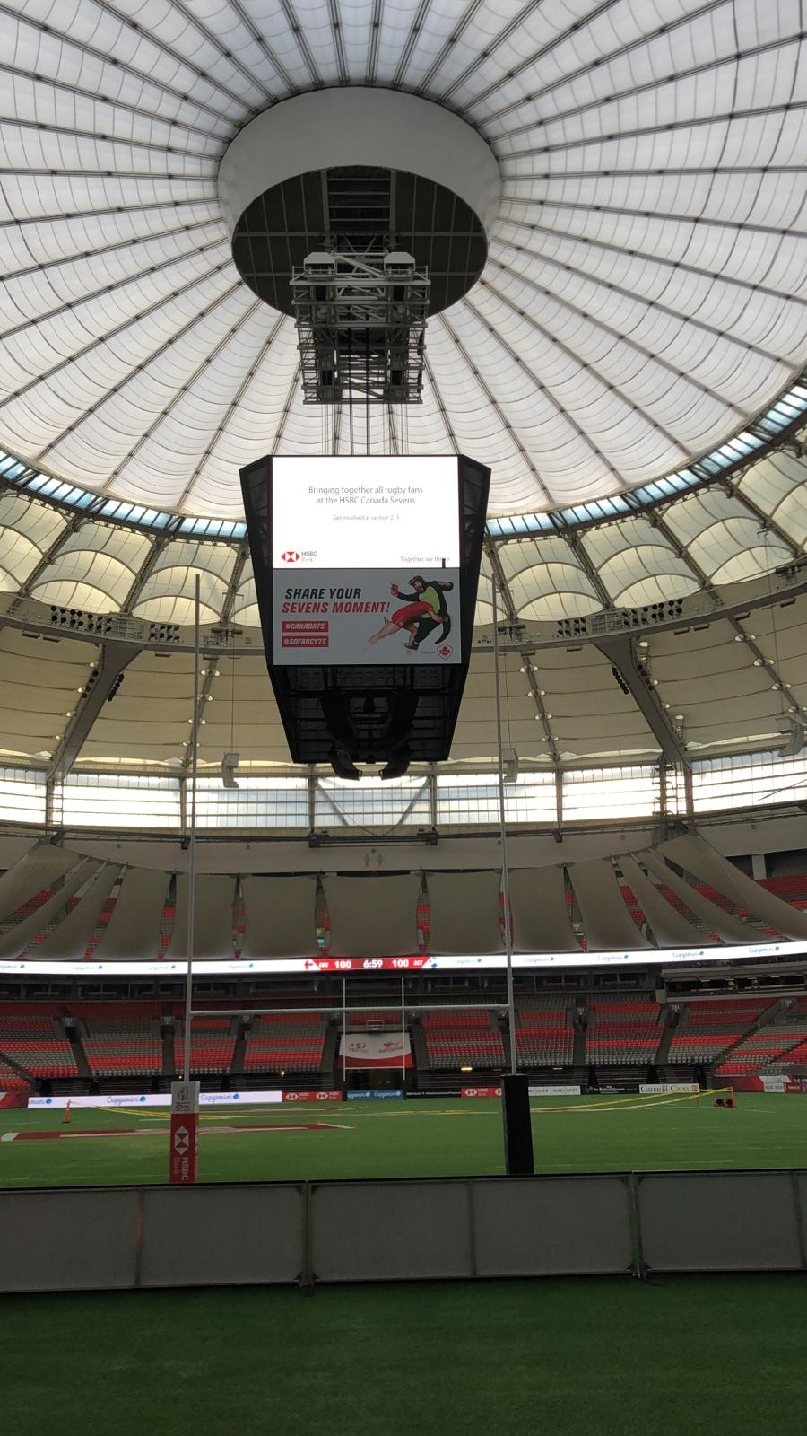 printed and installed by us! - Rugby Canada Sevens 2019