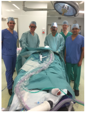 'R' Face Lift teaching day at Spire Hospital, Hull  In attendance from Left: Mr Paolo Matteucci, Mr Alastair Platt, Mr Muhammad Riaz, Mr Simon Nicholson & Mr Ash Kotwal