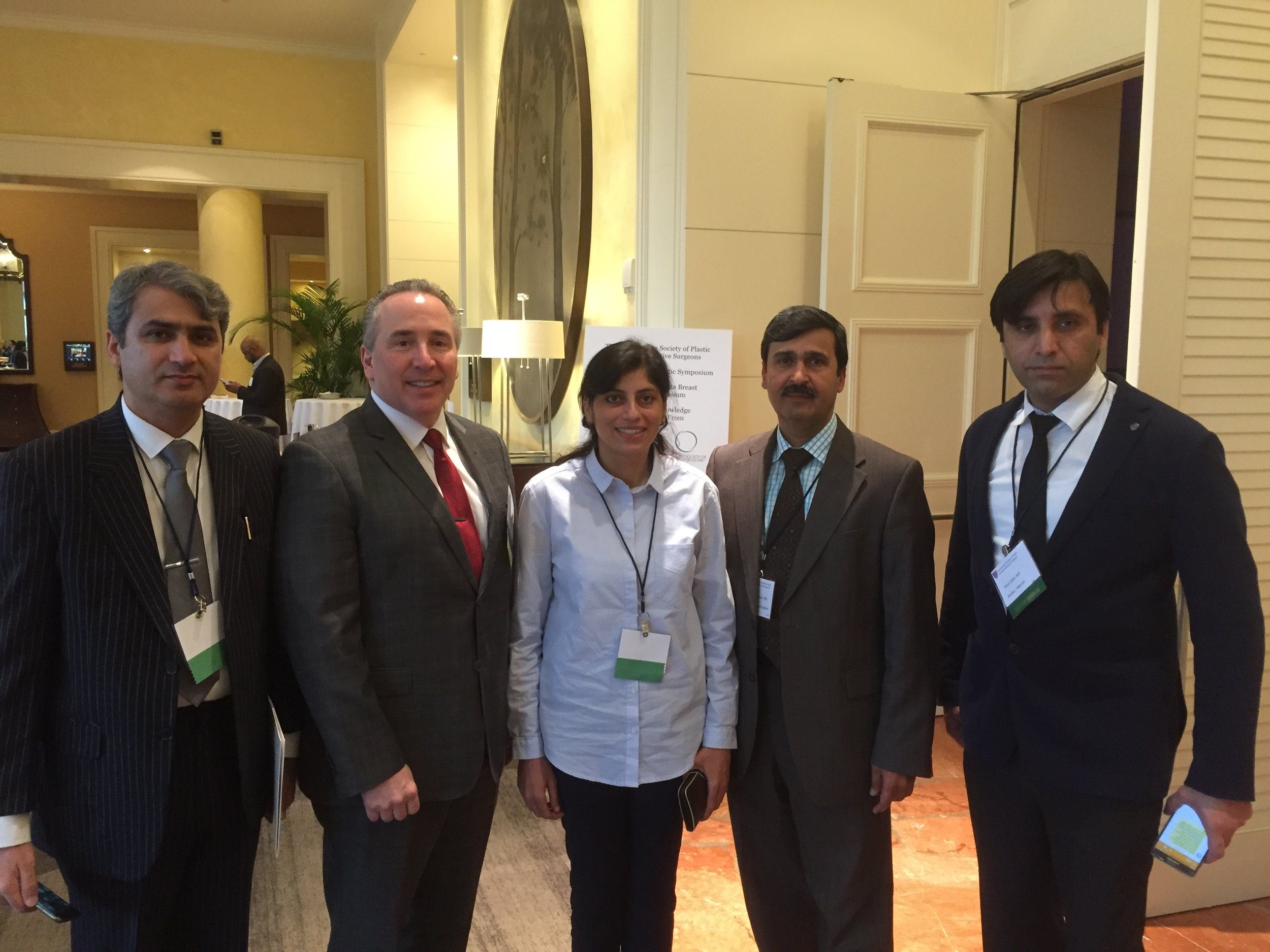 With Dr Mark A Codner, Program Chairman and Foreign Scholars from Pakistan.