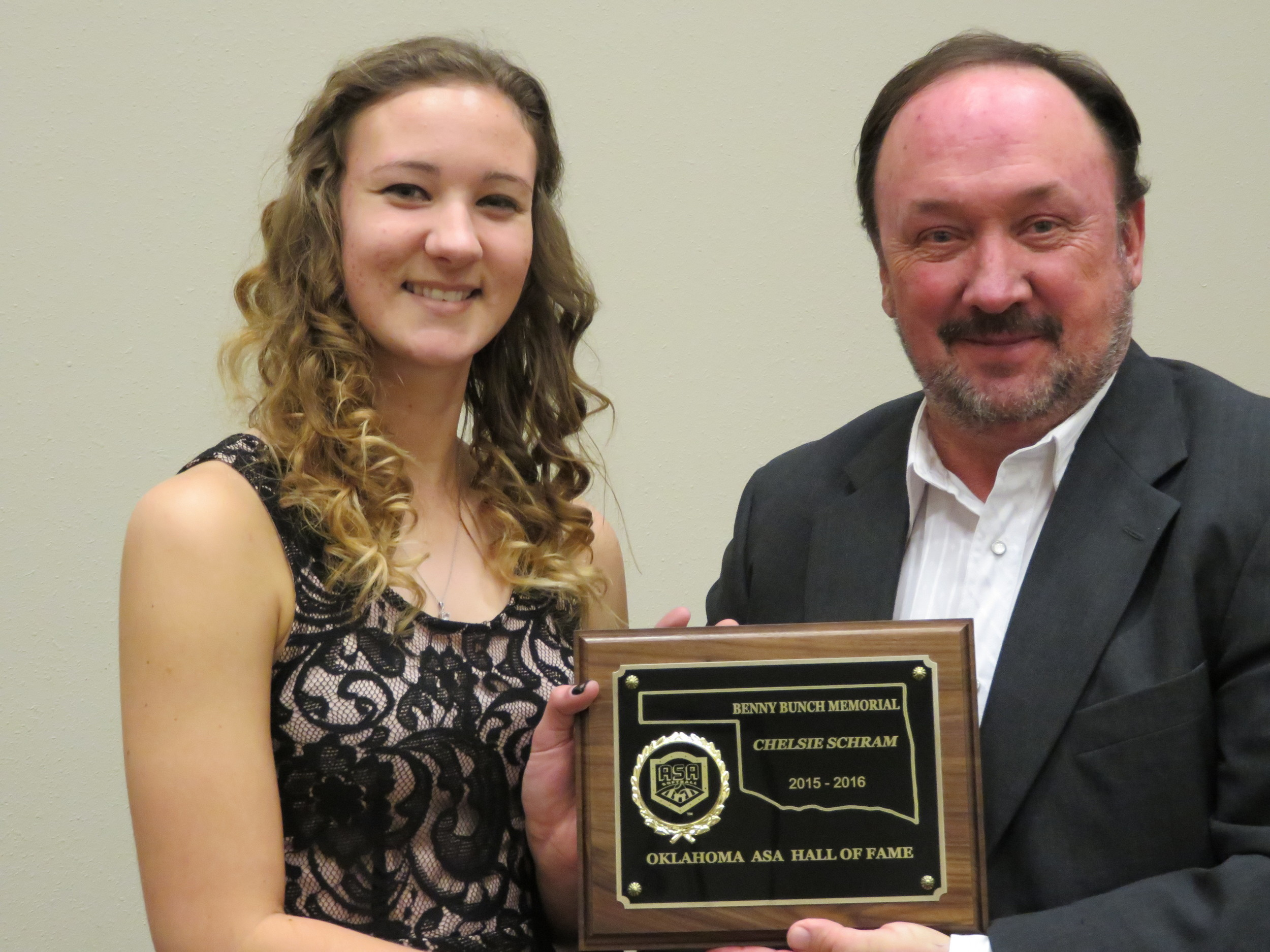 Chelsie Schram Award.JPG