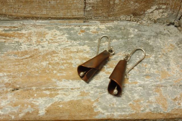 Copper & Silver Twist Earrings £25 (Sold)