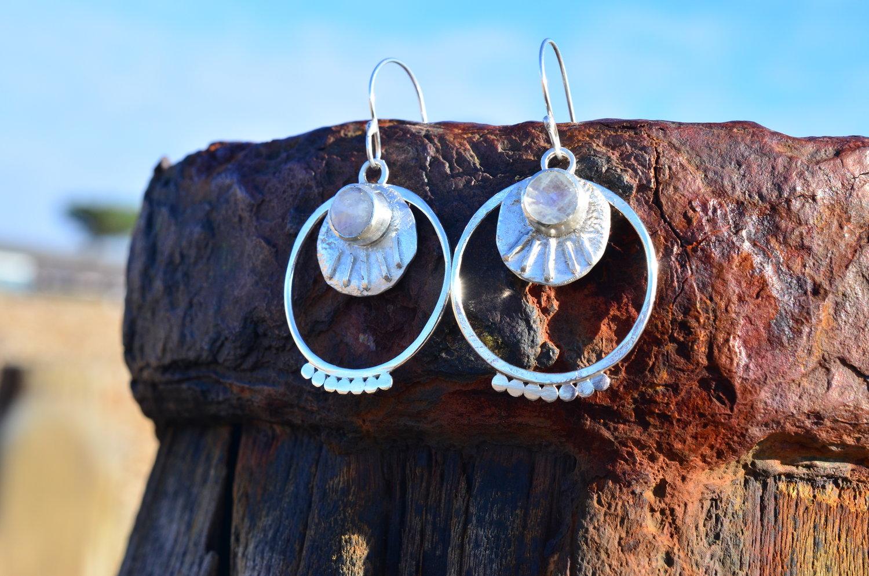 Faceted Moonstone Earrings £110