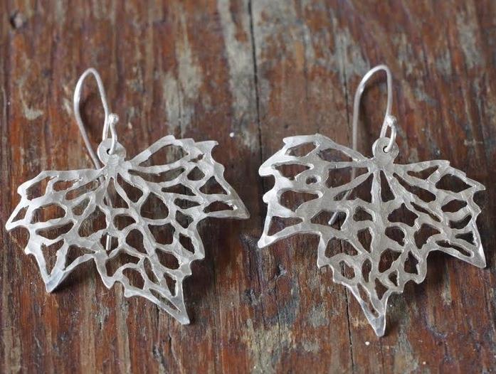 Silver Maple Leaf Earrings £100 (Sold)