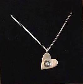 Silver Heart and Pearl Set Pendant £40 (Sold)