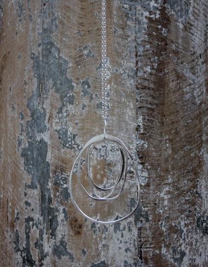 Long Silver Multi Hoop Pendant £70 (Sold)