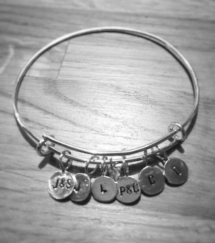 Silver Personalised Adjustable Bangle £60+