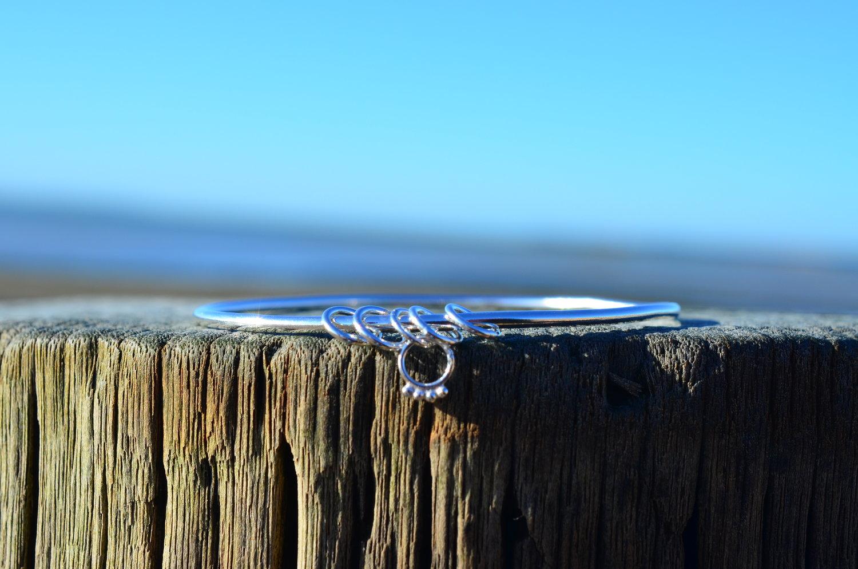 Silver 5 Ring Bangle £65