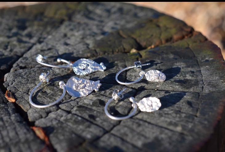Fused Silver Hoop Earrings £30 1.(Sold)