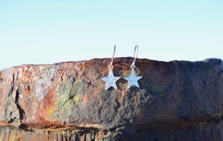 Silver Star Earrings £25 (Sold)