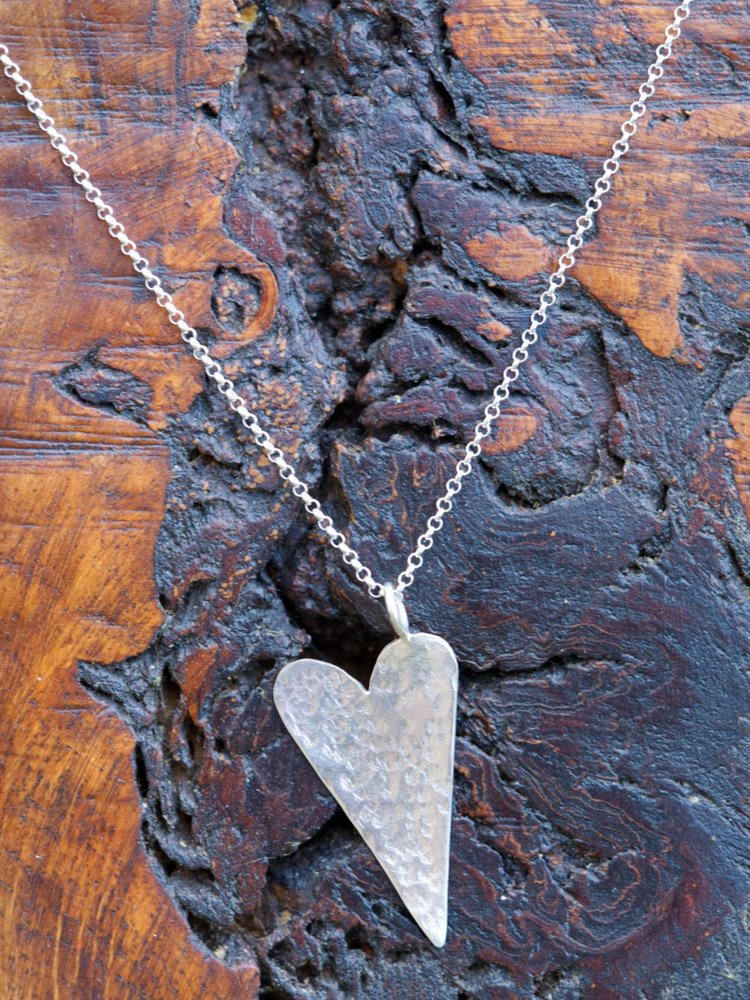 Hammered Heart Pendant £30.