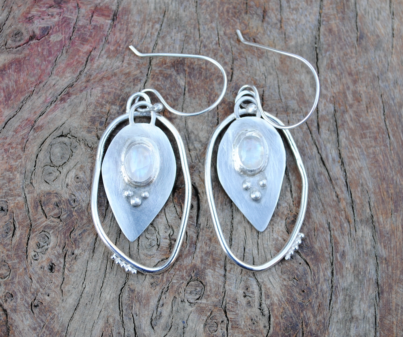 Silver and Moonstone Earrings £110.