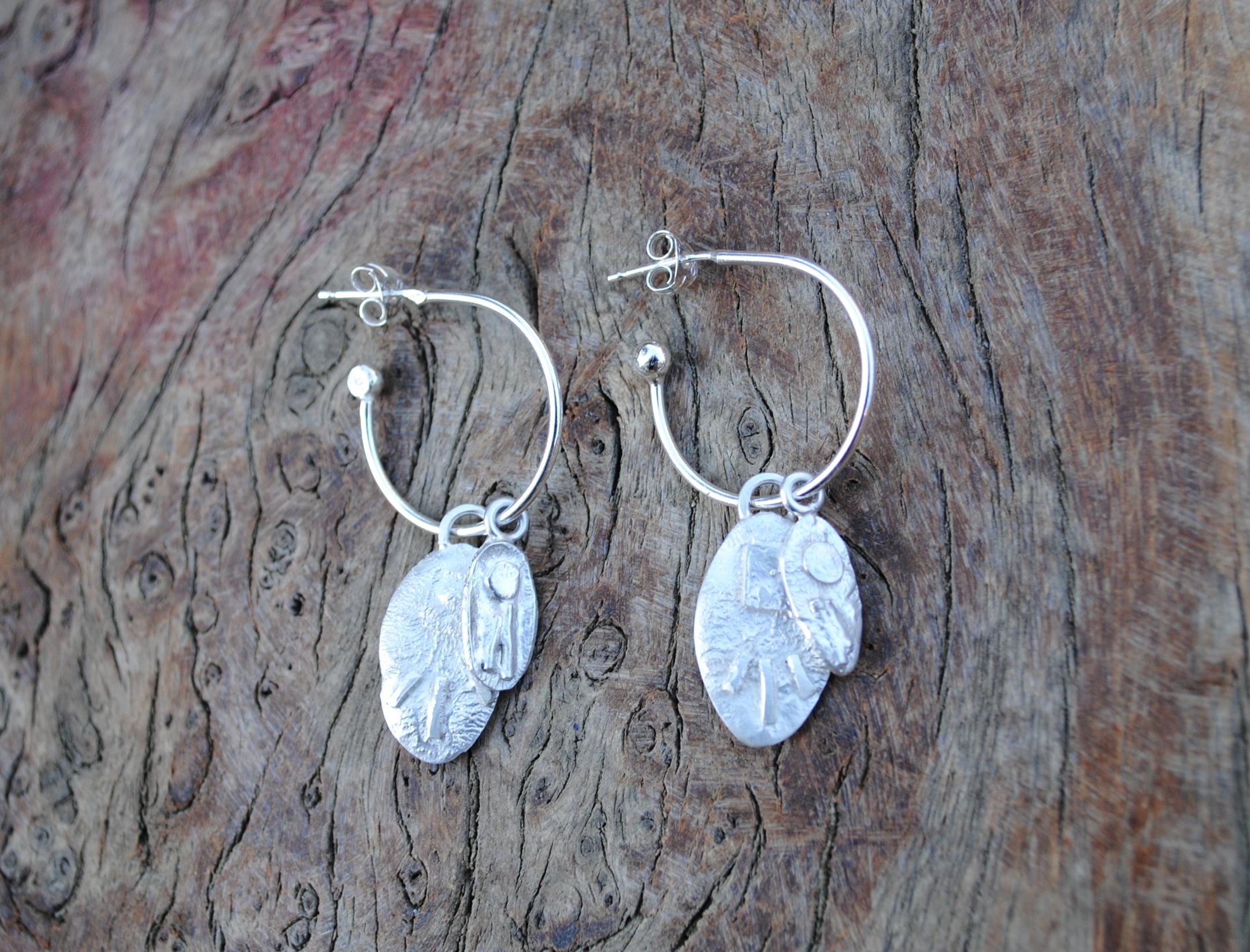 Fused Silver Hoop Earrings £45