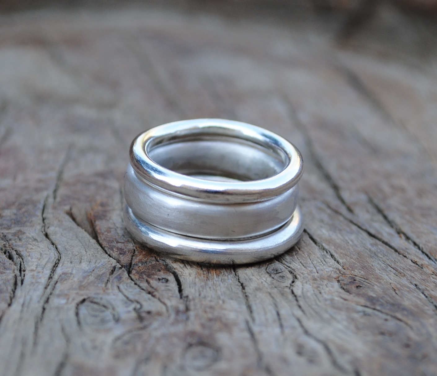 Set of Three Rings £90. (Wire Ring £25, Thicker Wire Ring £30, Oval Wire Ring £35.