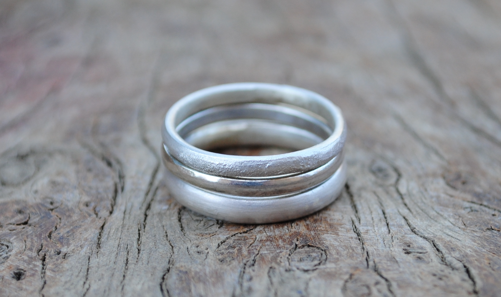 Three Silver Ring Set £75.